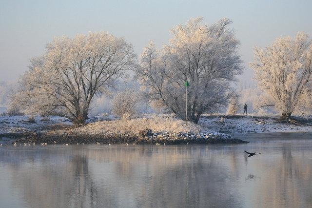 ijssel bij winter