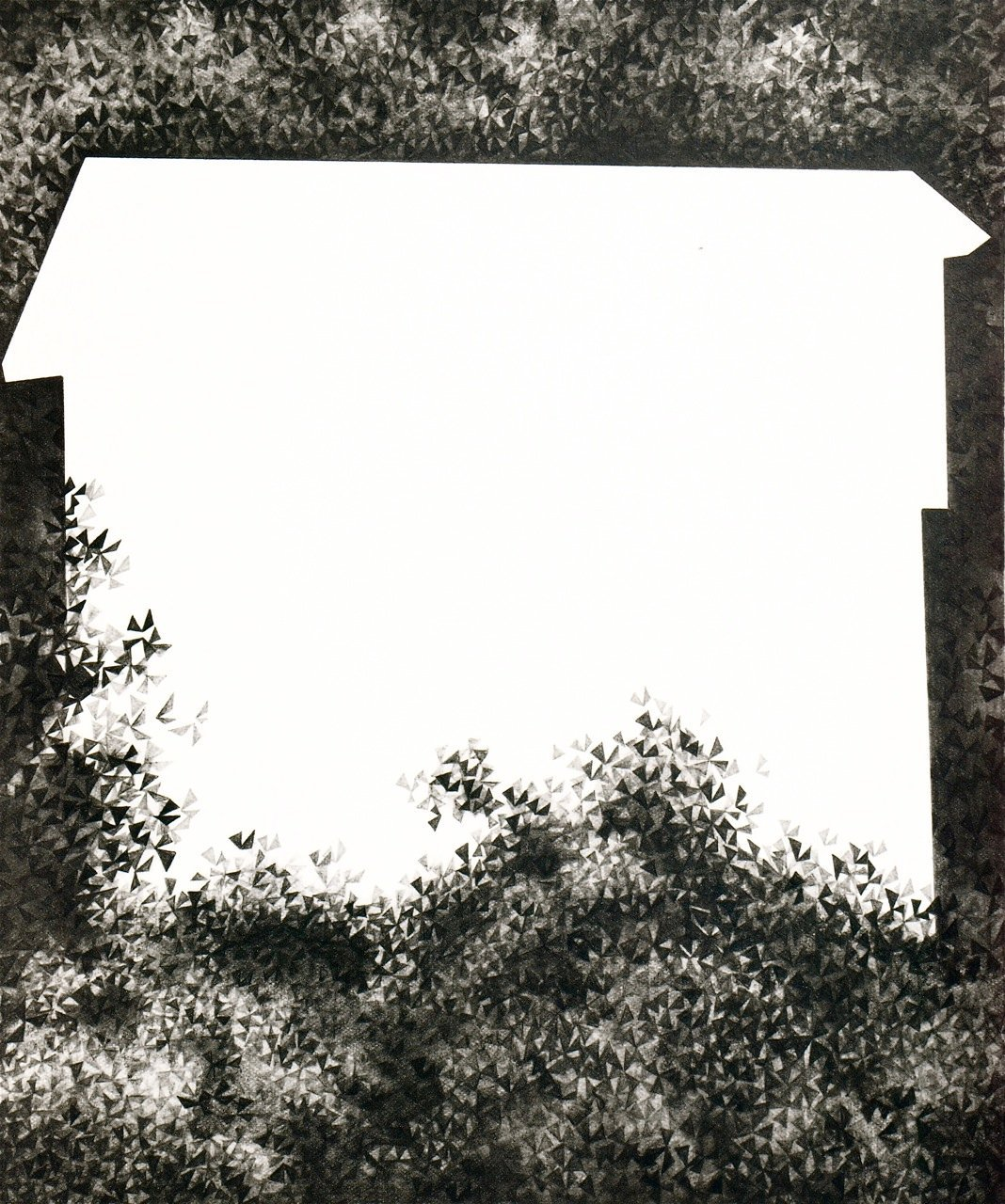 Pacific Northwest 7, 2012, graphite on paper, 12 x 10""