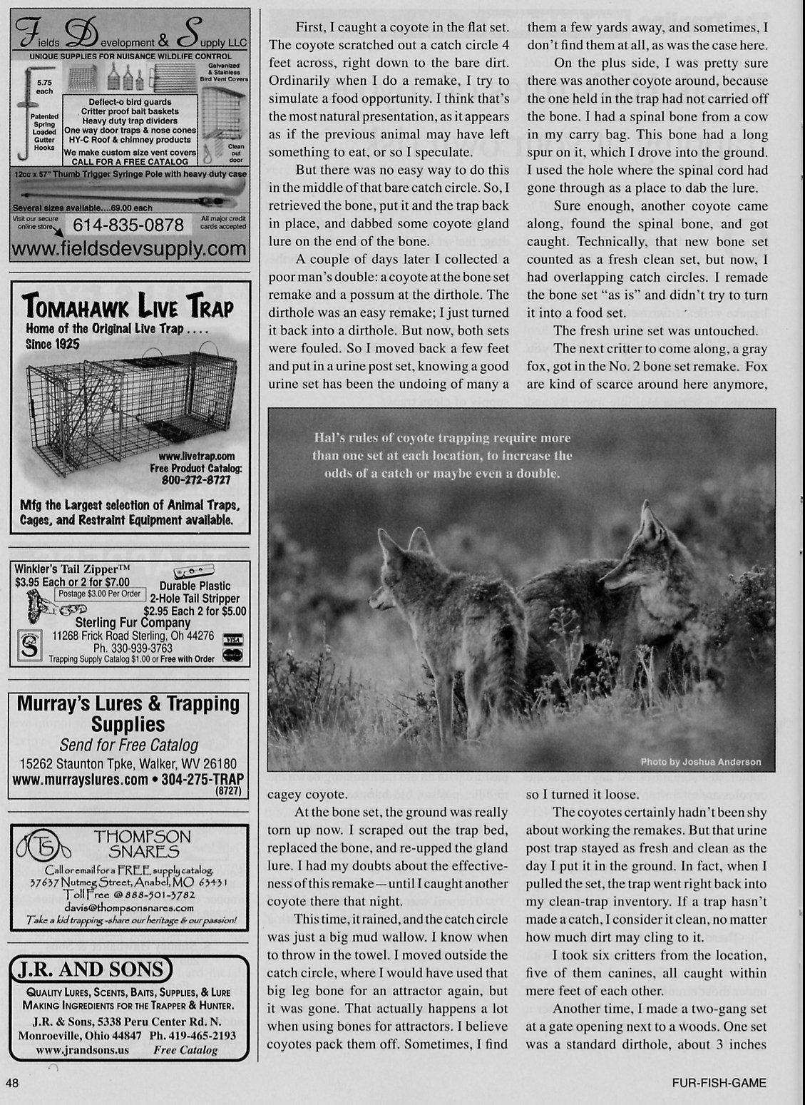 Fur-Fish-Game Magazine (inside); © December 2011