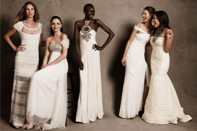 Harper's Bazaar. Christy Turlington, Erin Wasson, Alek Wek, Georgina Chapman and Rosario Dawson. Fas