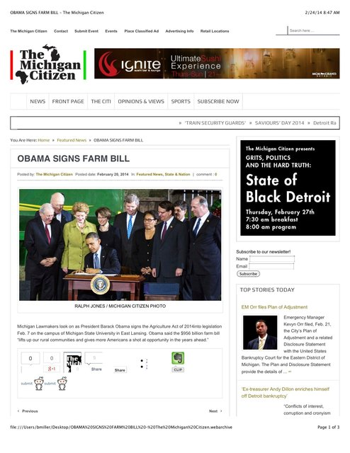 OBAMA SIGNS FARM BILL – The Michigan Citizen.jpg