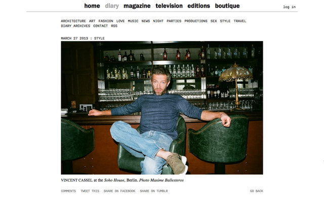 purple DIARY   Vincent Cassel at the Soho House  Berlin. nbsp Photo Maxime.jpg