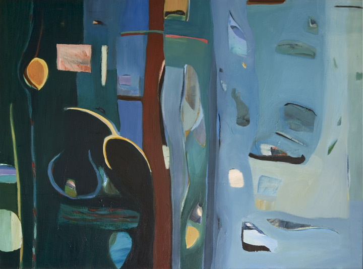 "Night and Day, 1994, Oil on Canvas, 51""x62"""