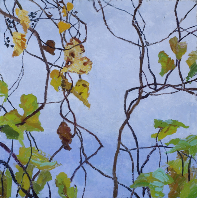 Wild Grape- Fall, 32 x 32""