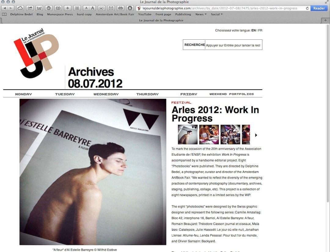 LE JOURNAL DE LA PHOTOGRAPHY, 06.2012