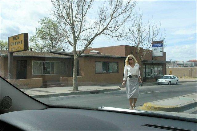 Woman approaching car