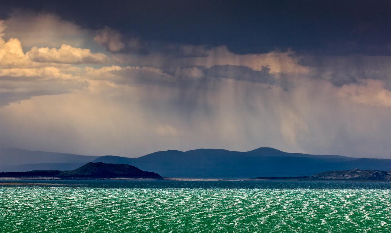 Mono Lake Rain