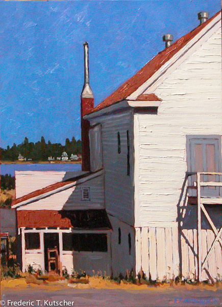 2005-13 Back of Masonic Hall (Burton_ Washington)  (oil on board) 22.5W 31H) 1.jpg