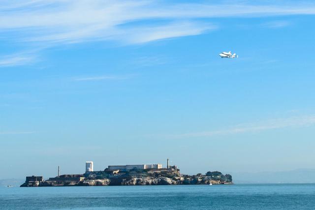 Endeavor over Alcatraz Island