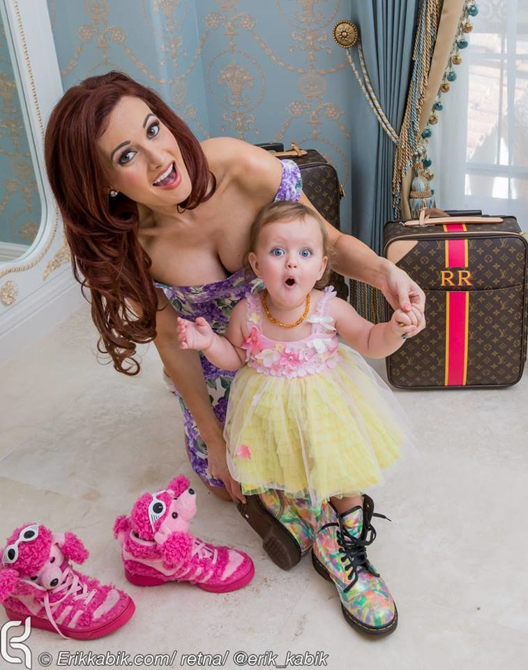 Holly Madison and her daughter Rainbow Rotella