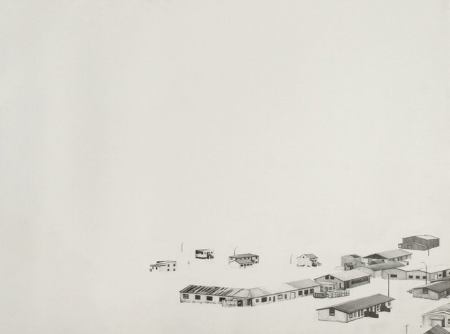 "Icelandscape 7, 2009, graphite on paper, 12 x 16"","