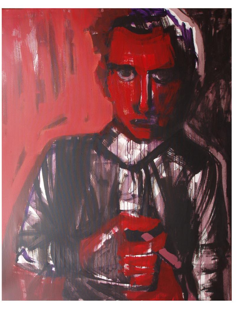"""""""Majakowski"""", akryl na płótnie, 150 x 120"""