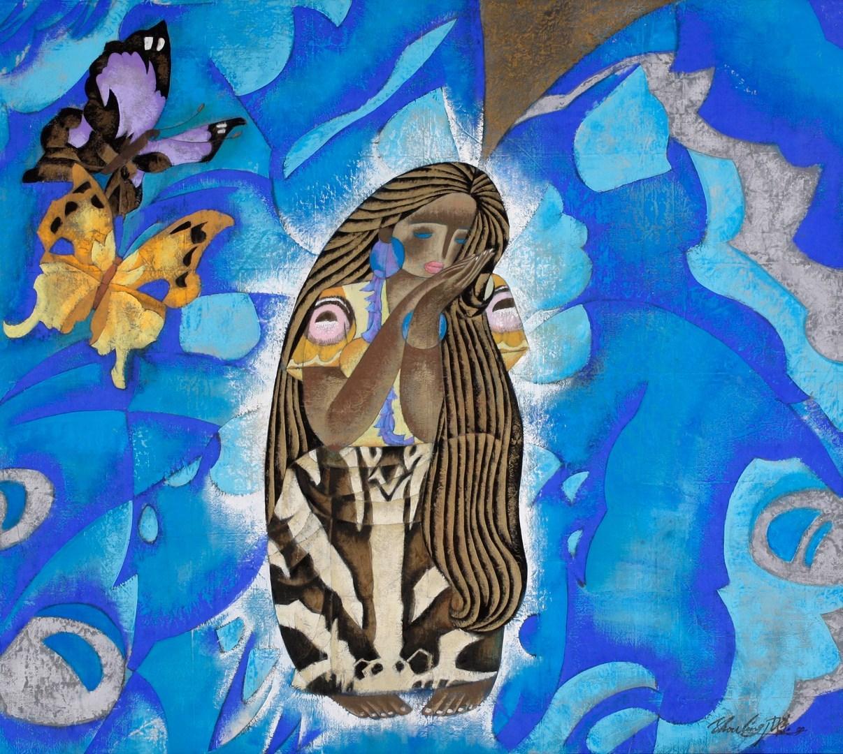 """Butterfly Dream, 33"""" x 37"""""""