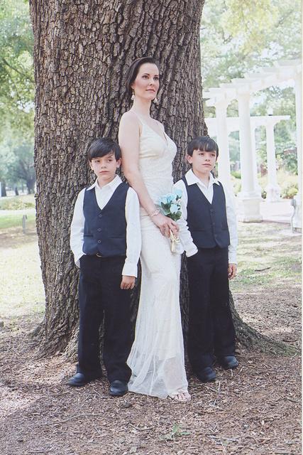 MODEL- BRIDE AND KYLE, RYAN ZUBA- TWINS