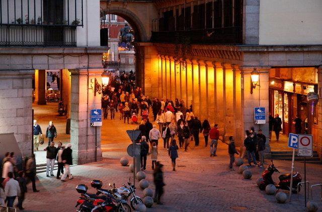 madrid - uitgang plaza major