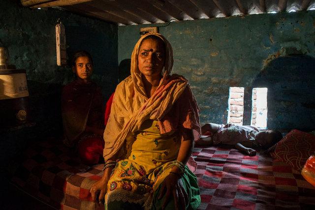 Leela, una manual scavenger, Nand Nagri, periferia nord di New Delhi