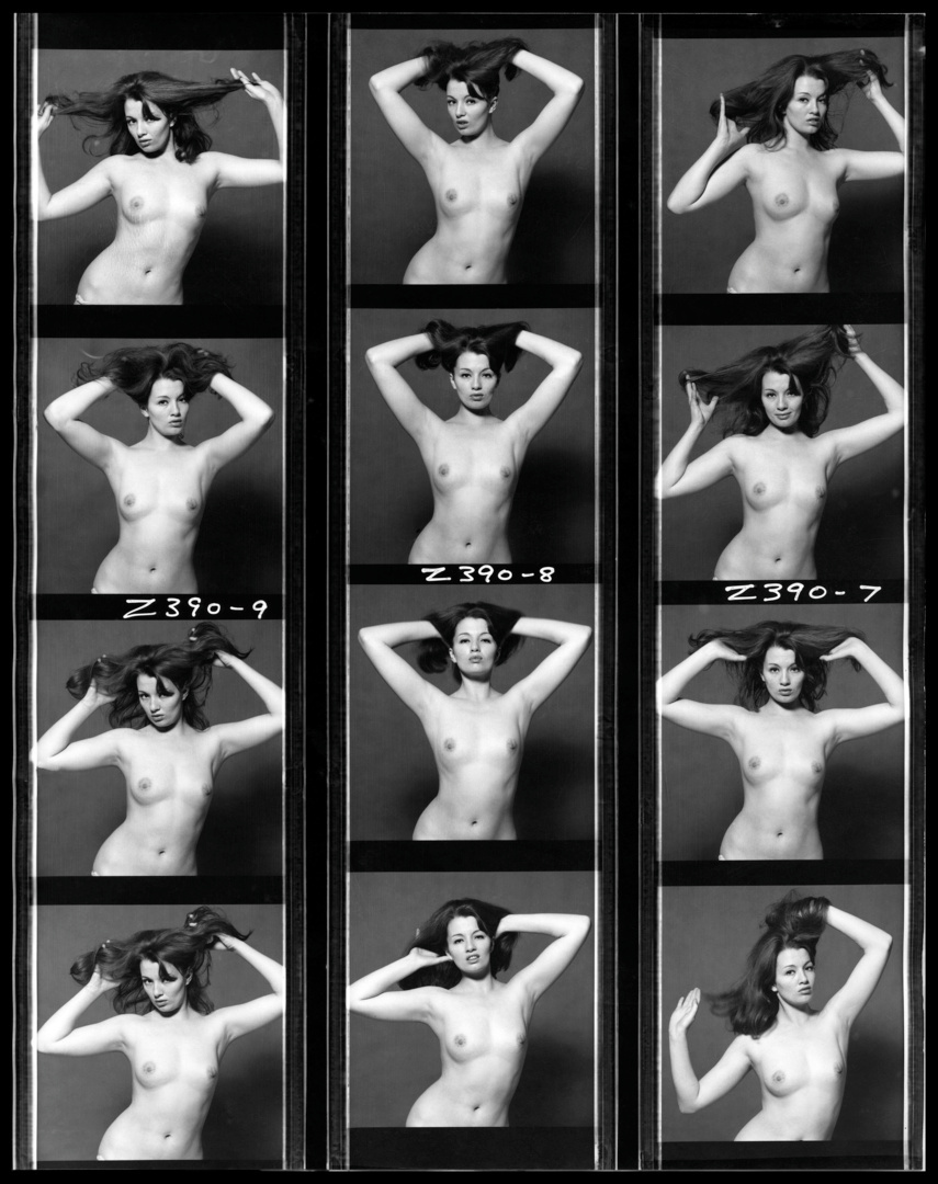 Christine Keeler Contact Sheet, 1964